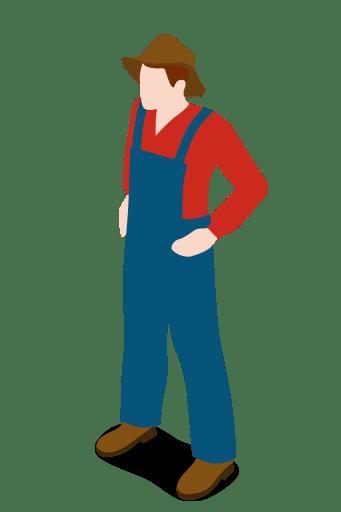 Man People Male Standing Farm Farmer Icon