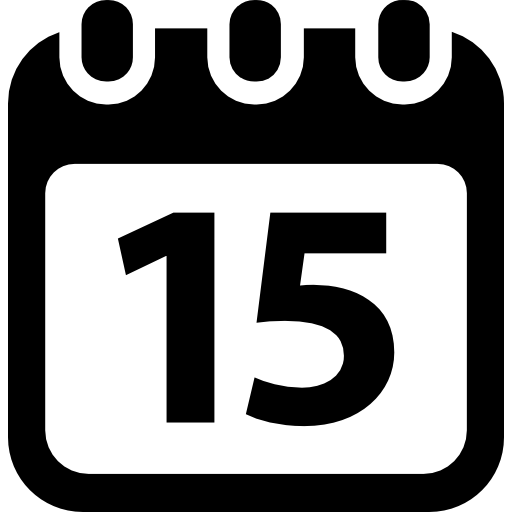 Tools And Utensils Schedule Day Calendar Number 15