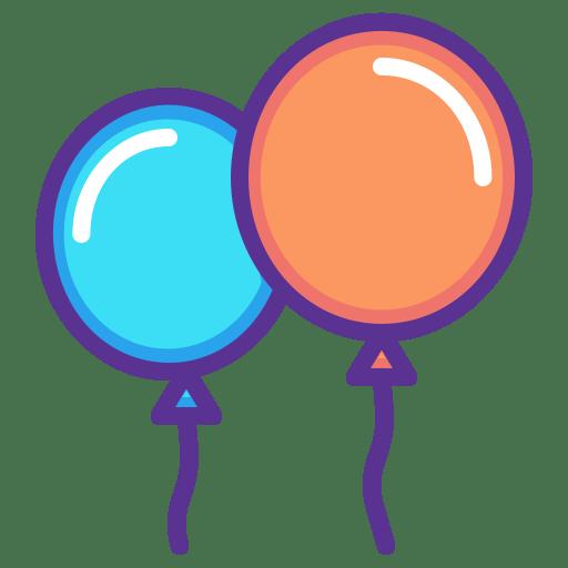 Festival New Balloon Year Celebration Merry