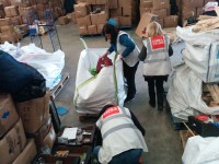 Parcels being packed for distribution