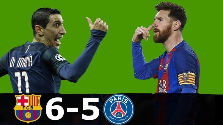Barcelona vs PSG 6-5 - ShareonSport.com