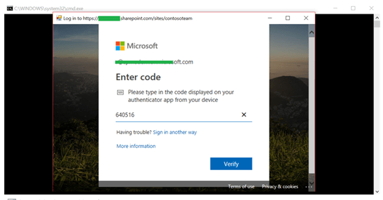Connect MFA enabled SharePoint site using CSOM