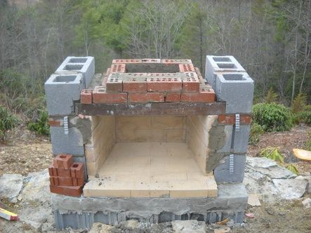 how to build outdoor fireplace | Building an outdoor ... on Building Outdoor Fireplace With Cinder Block id=88079