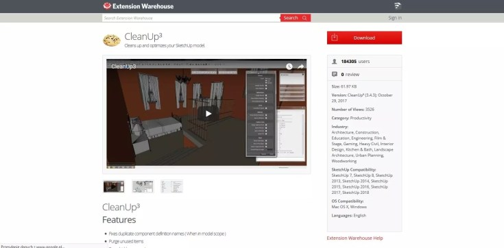 Sketchup Optimization of ready models CleanUp 02 1024x505 - blog - sketchup textures, pbr textures, free pbr textures, cleanup plugin