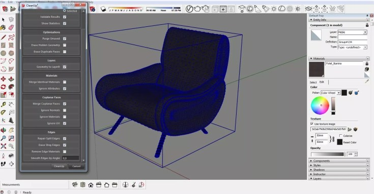 Sketchup Optimization of ready models CleanUp 06 1024x534 - blog - sketchup textures, pbr textures, free pbr textures, cleanup plugin