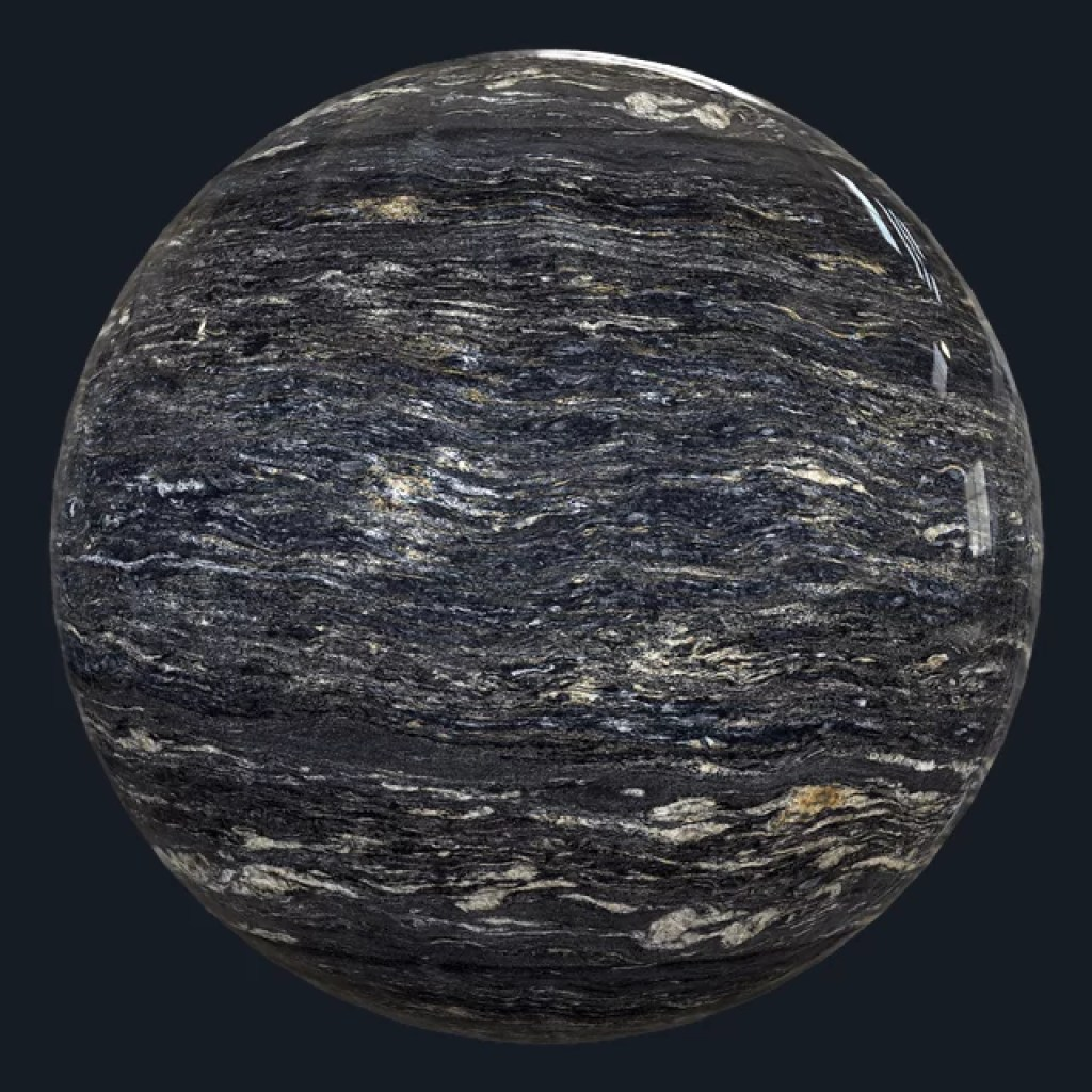 Marble Textures - COSMOS BLACK - POLISHED - GRANITE