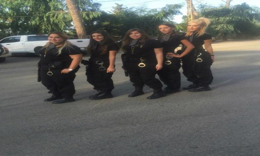 شرطة بلدية نسائية فقط في لبنان !