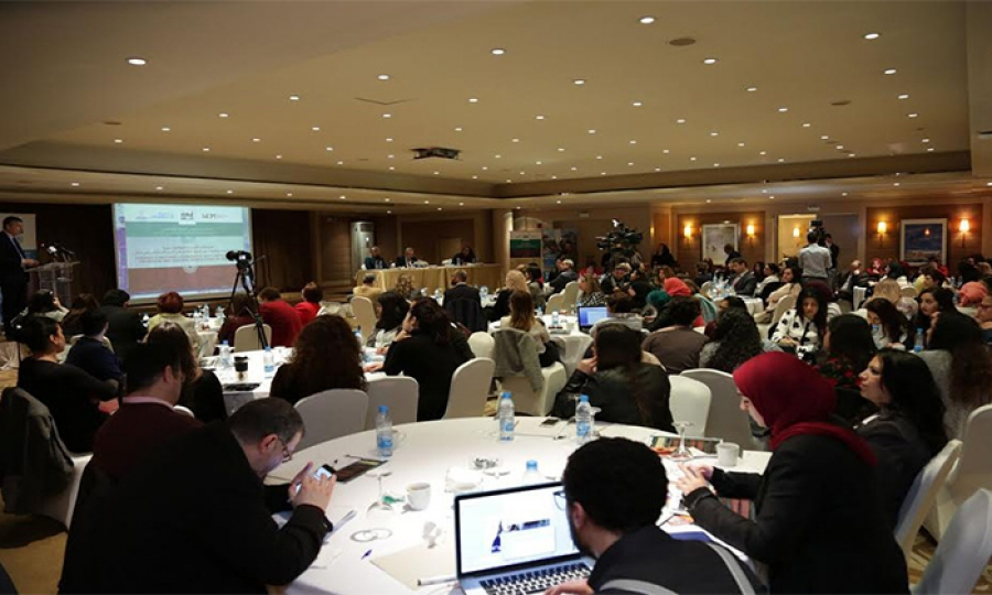"""منظمة """"أبعاد"""" تطلق مؤتمرها الوطني وتوصياته إلى استراتيجية وزارة المرأة"""