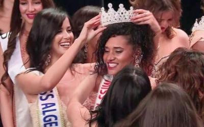 ملكة جمال الجزائر تواجه من إنتقدوها بسبب لون بشرتها