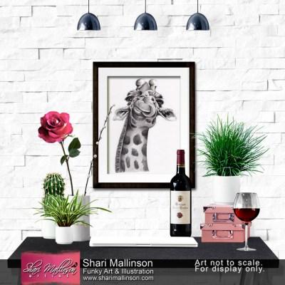 African Giraffe Art Print