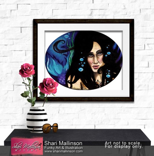 Mermaid Dreams, Print