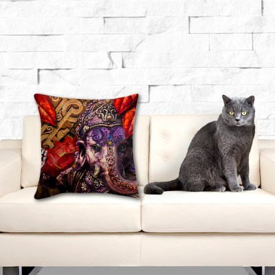 Ganeshs Fire Lotus, Throw Pillow