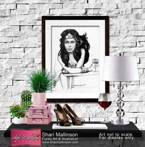 Diana Prince's Habits, Wonder Woman Art print