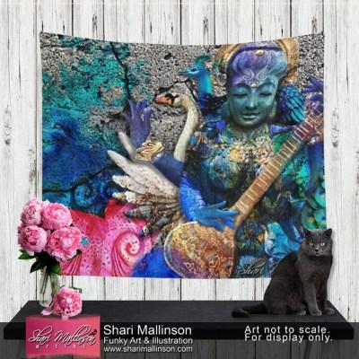Water Saraswati, Tapestry