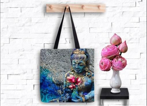 Water Quan Yin, Tote Bag