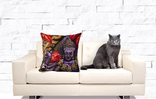 Fire Kali, Throw Pillow