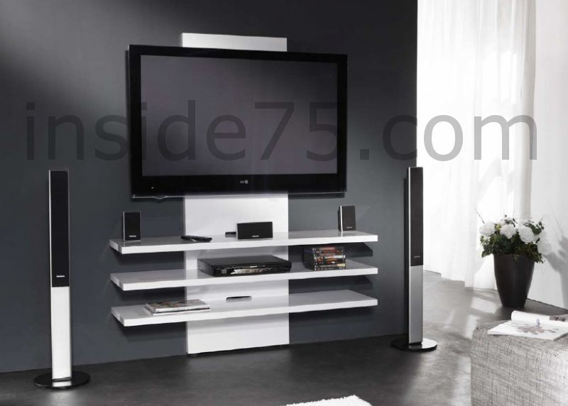 Meuble Tv Fix Au Mur Mobilier Design Dcoration D