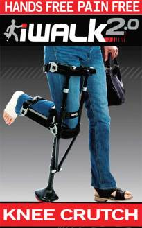A hands free crutch, the iWalk 2.0 is great alternative to crutches