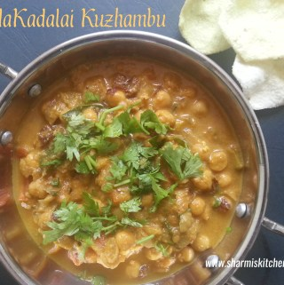 Kondakadalai Kuzhambu | White Chickpeas Curry Recipe