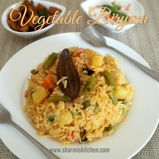 Vegetable Biryani | Vegetable Pulao Recipe (using Coconut Milk)