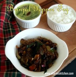 Brinjal Pepper Fry | Kathirikkai Milagu Varuval Recipe
