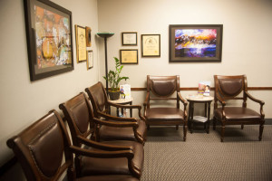 Sharon Albright DDS expanded and remodeled dental office reception area