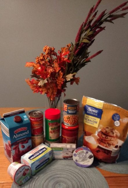 Grocery items purchased at ALDI.