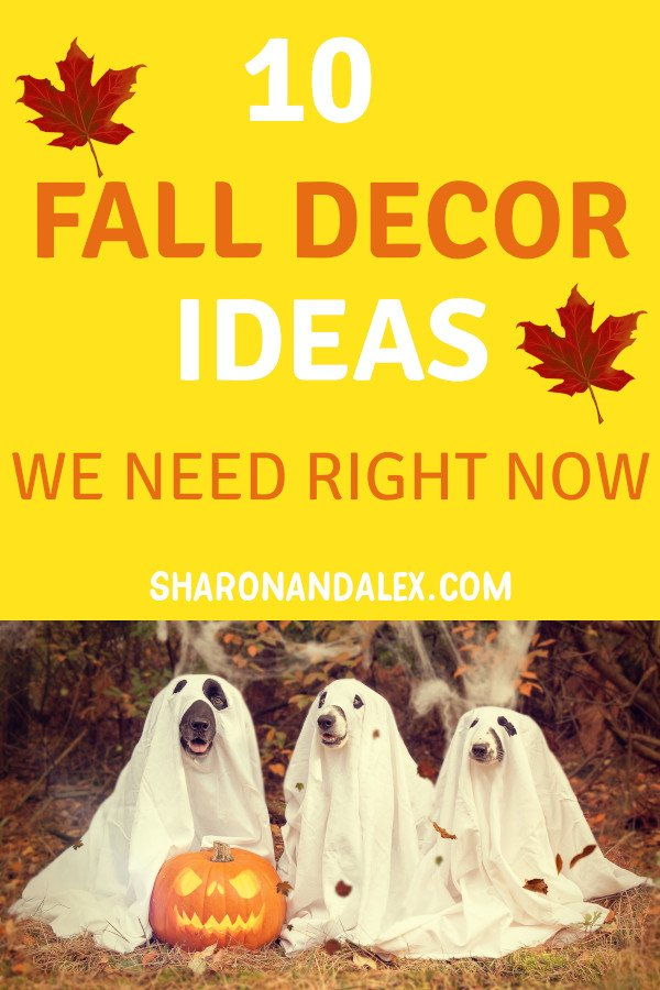 Fire up the bonfires and s'mores because fall is coming! Check out these 10 awesome fall decor ideas we all need to get ready for fall. #homedecor #falldecor #fall #decorideas
