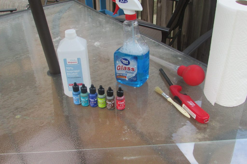 Alcohol ink supplies