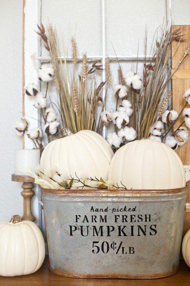Fall Decor - Farmhouse Pumpkin Bucket