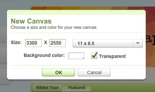 Ribbet Canvas size