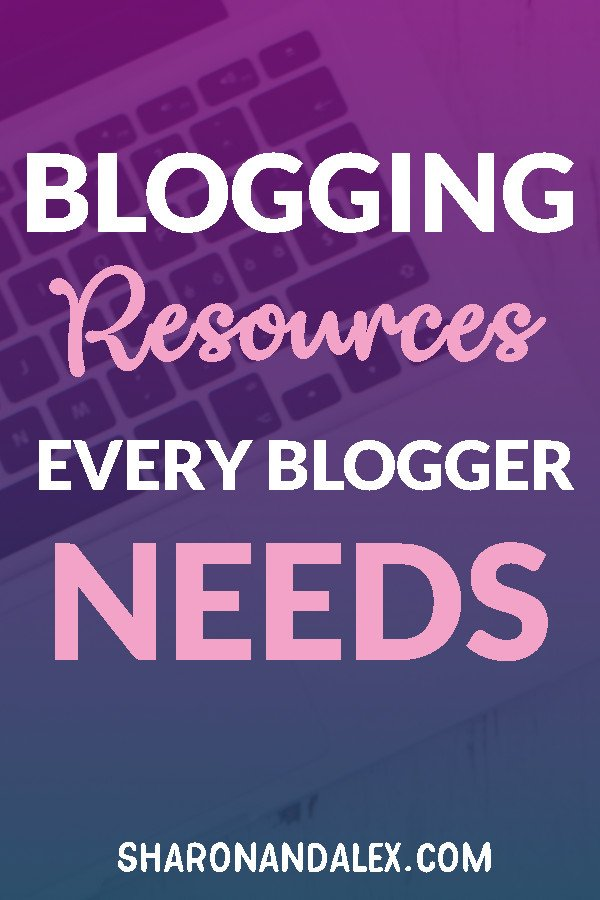 Are you overwhelmed with all of the tools available for bloggers? Check out my list of blogging resources I think every blogger needs. #blogging #bloggingresources
