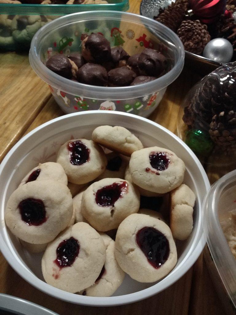 Christmas Cookies Shortbread Thumbprints