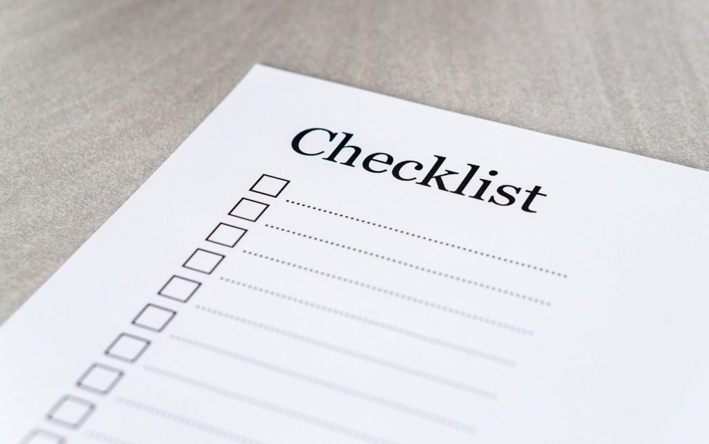 blog successful checklist