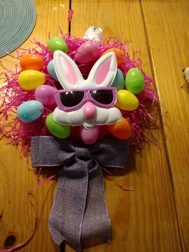Cheap Easter wreath done