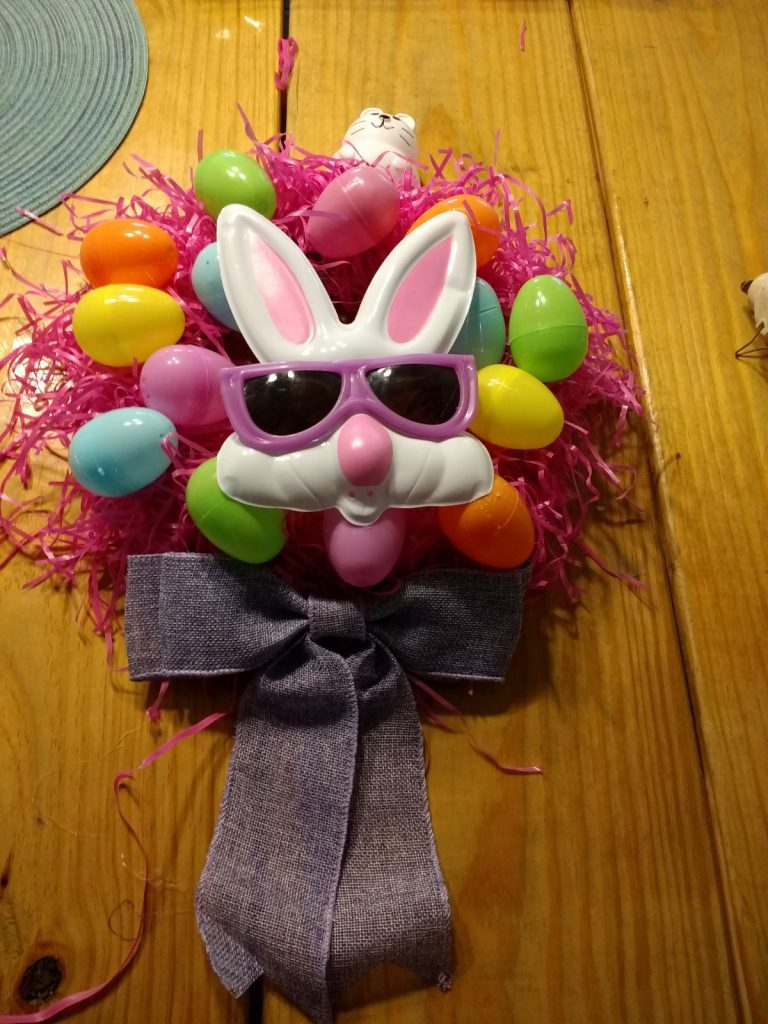 Cheap Easter wreath done