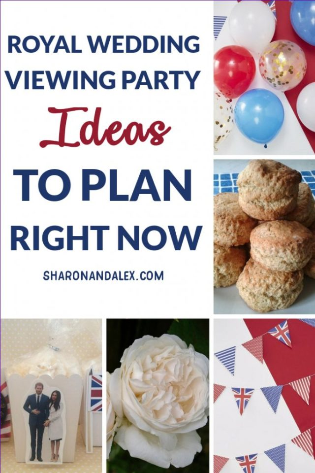 It's almost time for the next royal wedding!Why not host a royal wedding viewing party? Gather your squad and try some of these fun ideas for a royally good royal wedding party! #royalwedding #royalwedding2018 #royalweddingparty #weddingveiwingparty