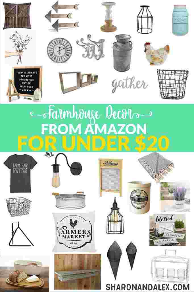 Wow! Check out these farmhouse decor finds on Amazon for under $20!! You'll be decorating in the Fixer Upper style and still stick to your budget!