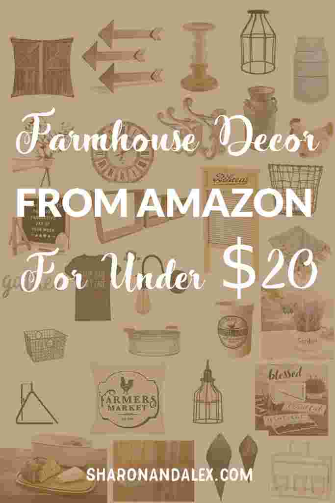If you love farmhouse decor, you're gonna love this list of farmhouse decor items from Amazon that are under $20.