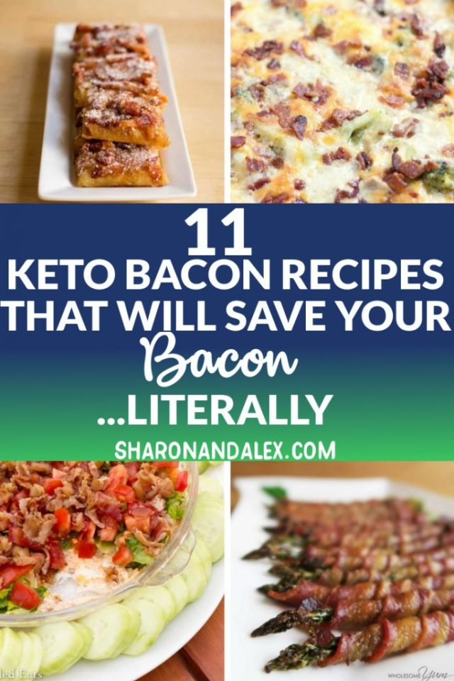 Do you love bacon? Check out these 11 keto bacon recipes that are delicious and work with the keto diet! #keto #ketodiet #bacon #ketogenic #ketorecipes