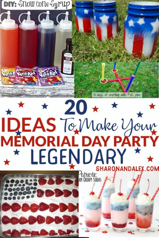 If you're looking for ideas to take your Memorial Day party up a notch, check out these ideas to make your Memorial Day party legendary. #memorialday