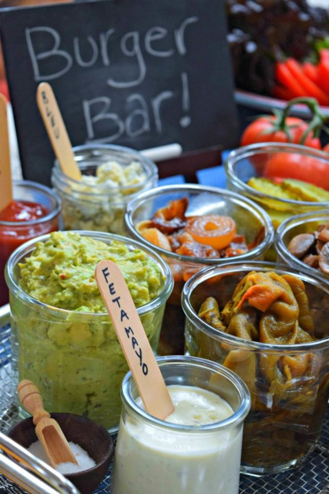 The Fit Fork - Burger Bar Topping Ideas - Memorial Day Pary