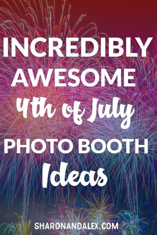 Photo booths are a great way to get your guests involved in the festivities. Check out these great ideas for making your own 4th of July photo booth #4thofJuly #photoboothideas #holidays