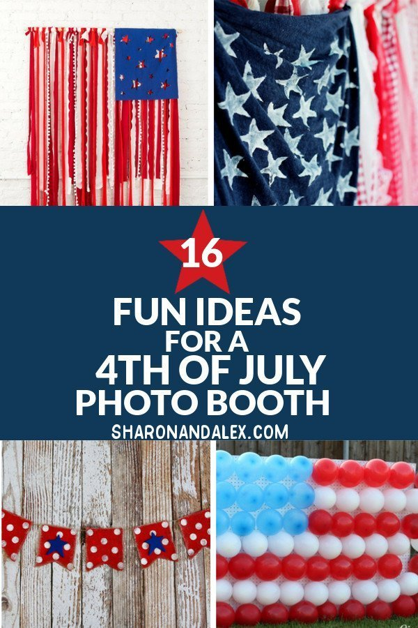 Make your own 4th of July photo booth for your big holiday bash! Check out these great ideas for making your own photo booth. #4thofJuly #photoboothideas