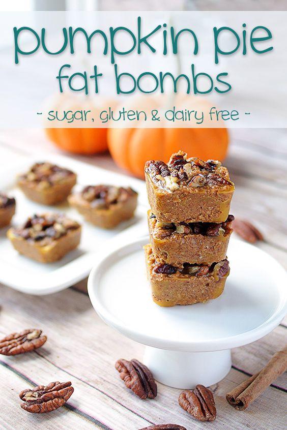Keto Fat Bombs - Pumpkin Pie Bites