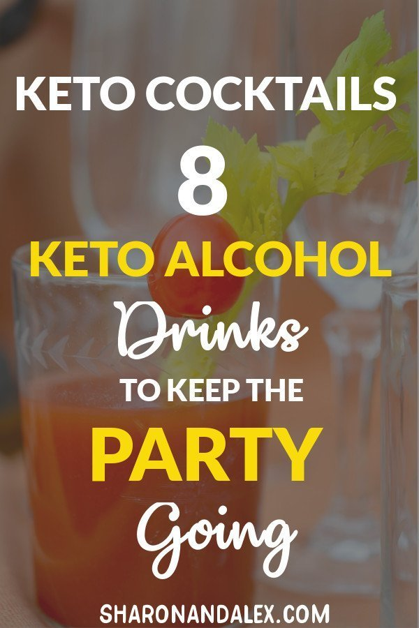 Check out these 8 amazing keto alcohol drink recipes that you can enjoy on the keto diet. #keto #ketoalcohol #ketogenicdiet #ketodrinks
