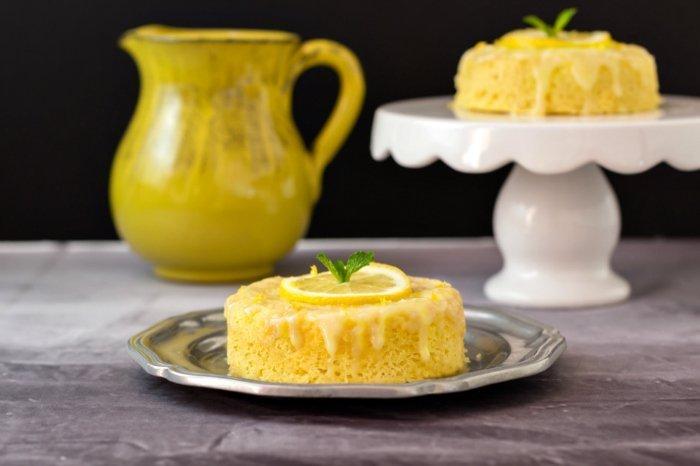 Low Carb Birthday Treats - 3 Minute Lemon Poke Cake
