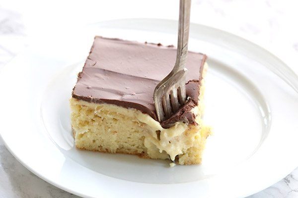 Low Carb Birthday Treats - Low Carb Boston Cream Poke Cake