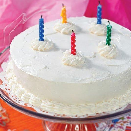 Low Carb Birthday Treats - Low Carb White Birthday Cake