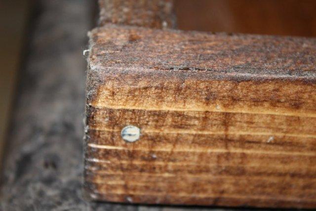 DIY Rustic Wooden Tray - Nail